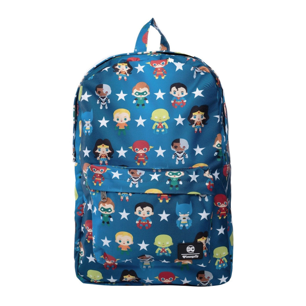Loungefly DC Justice League Chibi All Over Print Backpack