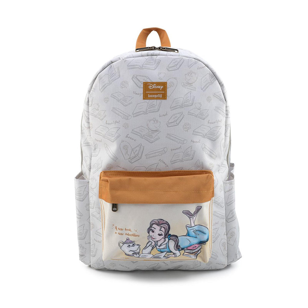 Loungefly Disney Belle Reading Canvas Backpack