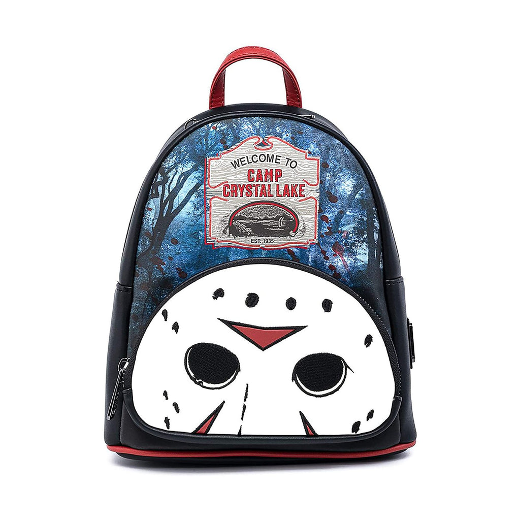Loungefly Friday The 13th Camp Crystal Lake Jason Mini Backpack