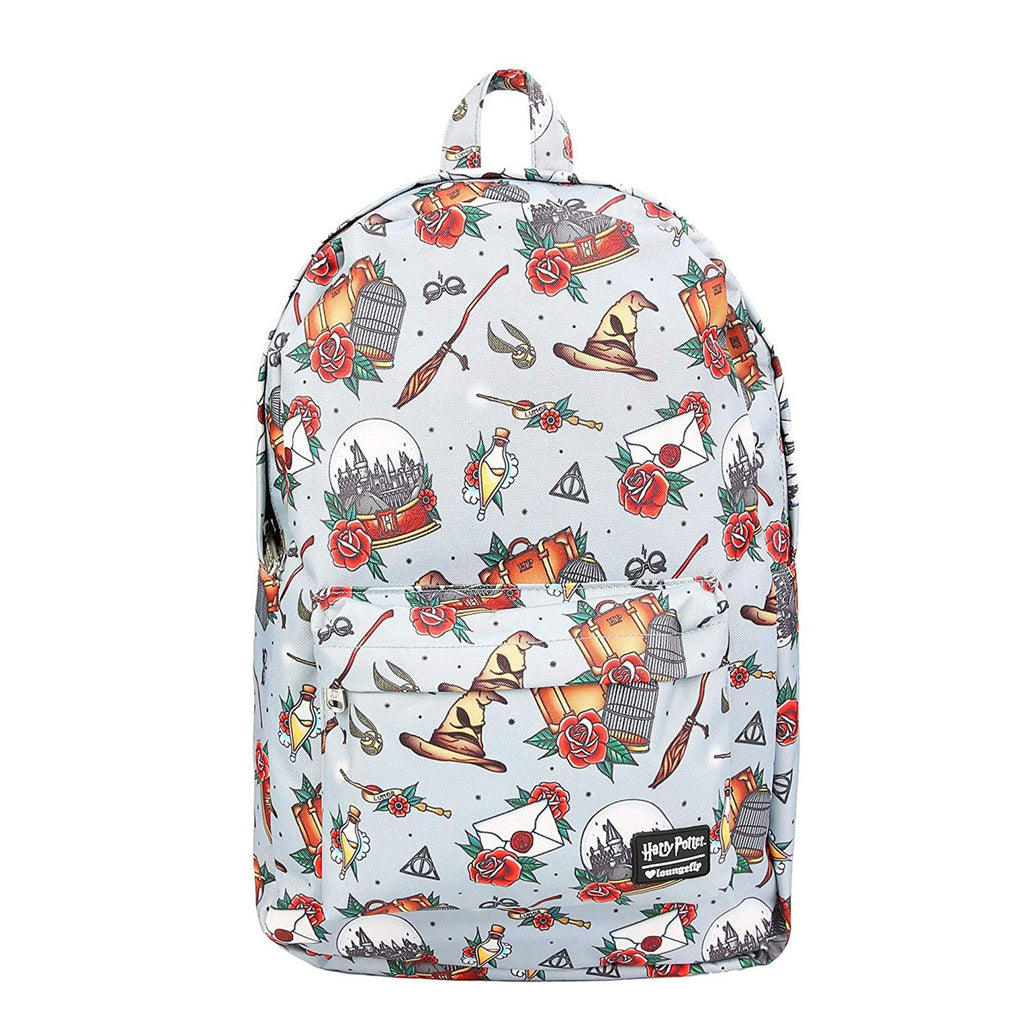 Loungefly Harry Potter Relics Tattoo All Over Print Backpack