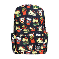 Backpacks - Loungefly Hello Kitty Snacks All Over Print Nylon Backpack