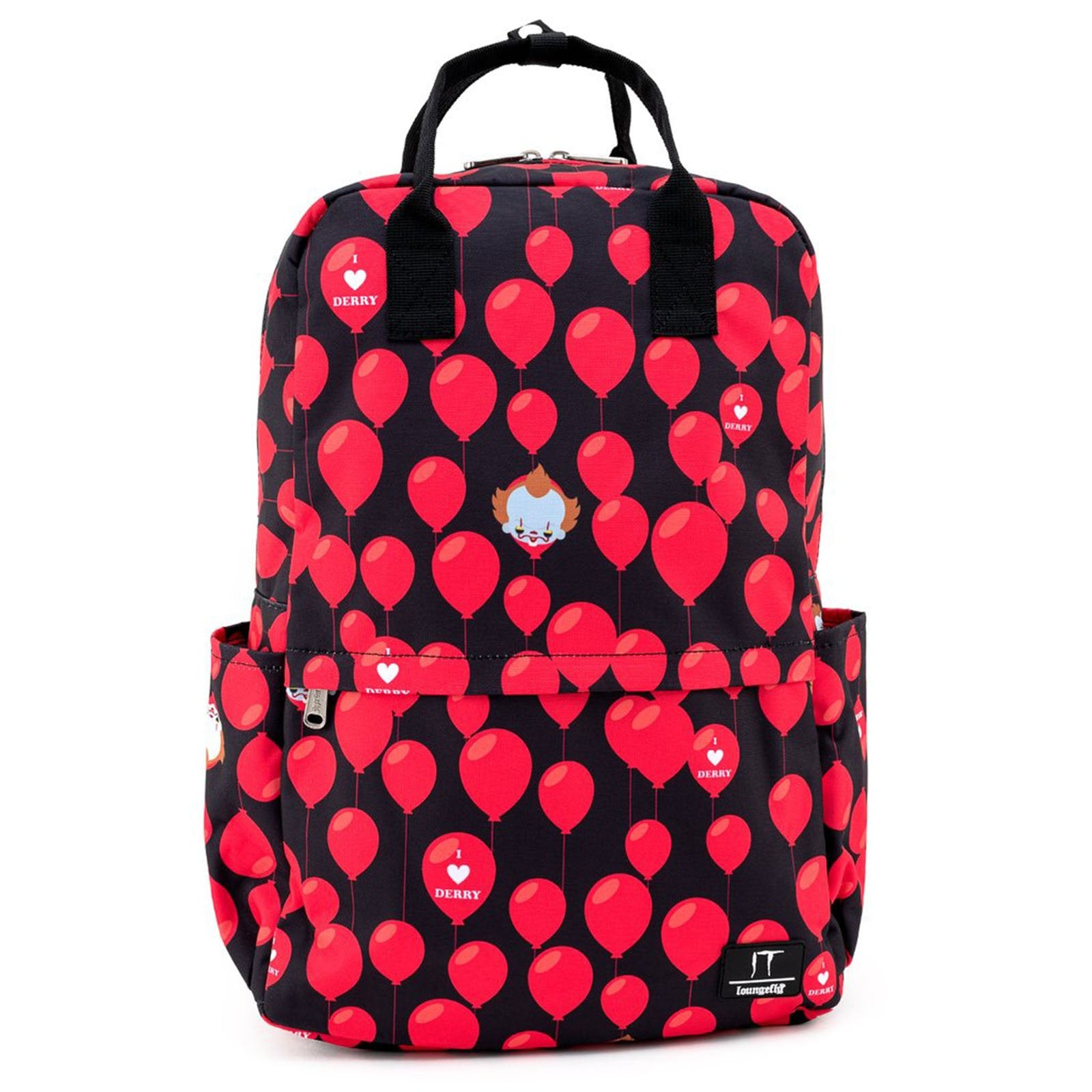 Loungefly IT I Heart Derry Balloons All Over Print Nylon Backpack NEW