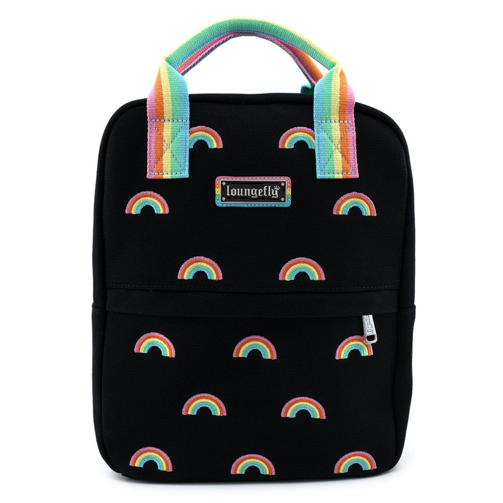 Loungefly Pride Rainbows Canvas Mini Backpack