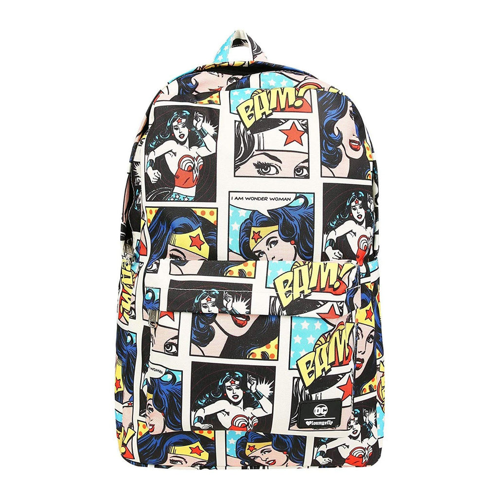 Loungefly Wonder Woman Comic All Over Print Backpack