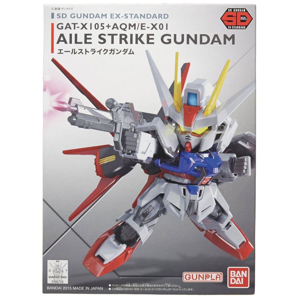 Bandai SD Gundam Ex-Standard Aile Strike Gundam Model Kit Figure