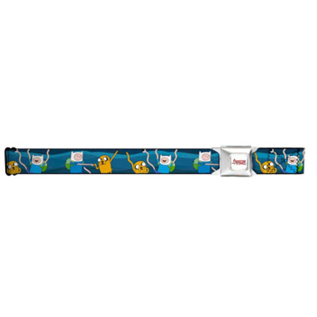 Adventure Time White Logo Finn and Jake Seatbelt Belt
