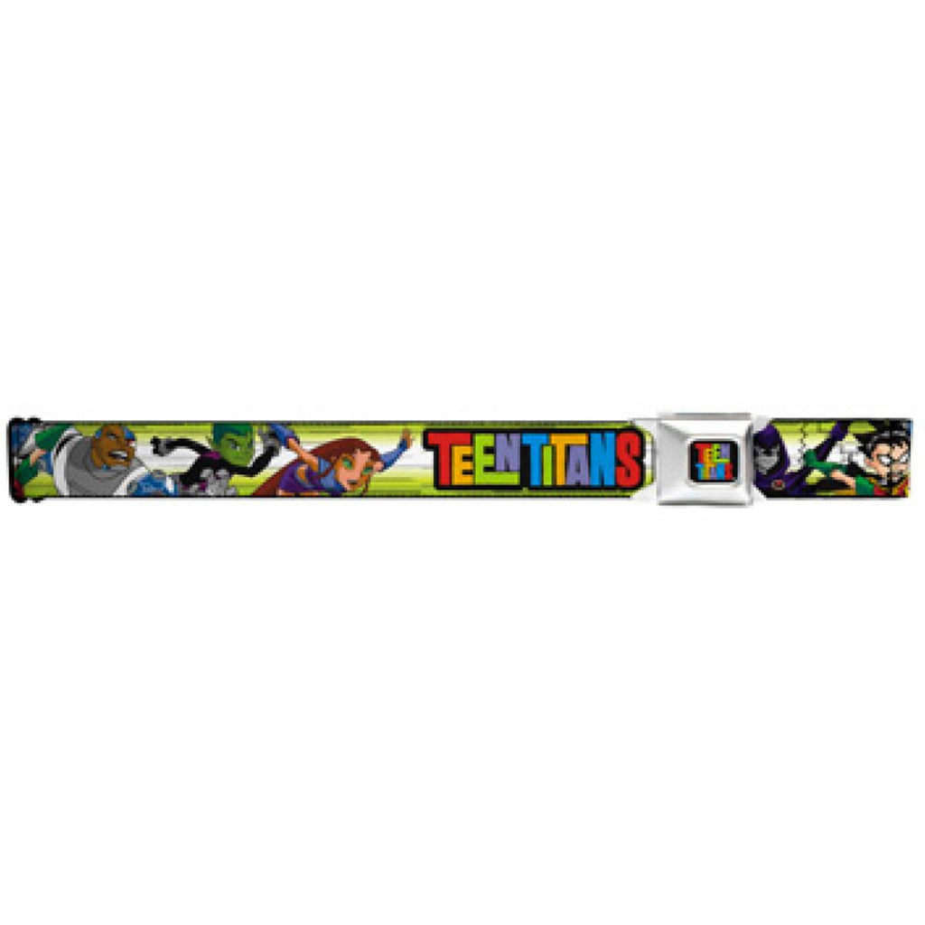 Teen Titans Full Color Black Seatbelt Belt