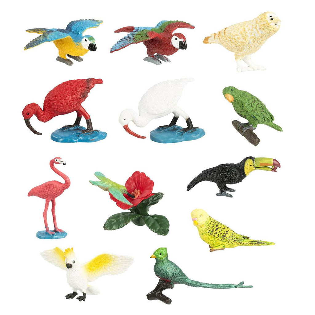 Exotic Birds Bulk Bag Mini Figures Safari Ltd