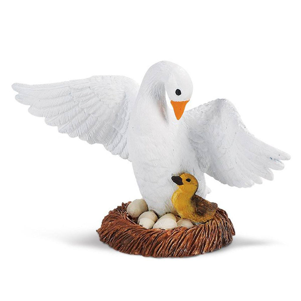 Goose With Baby Safari Farm Figure Safari Ltd
