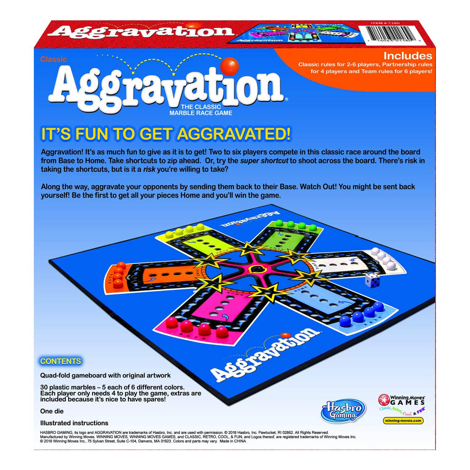 Aggravation Classic The Marble Race Game Family Fun
