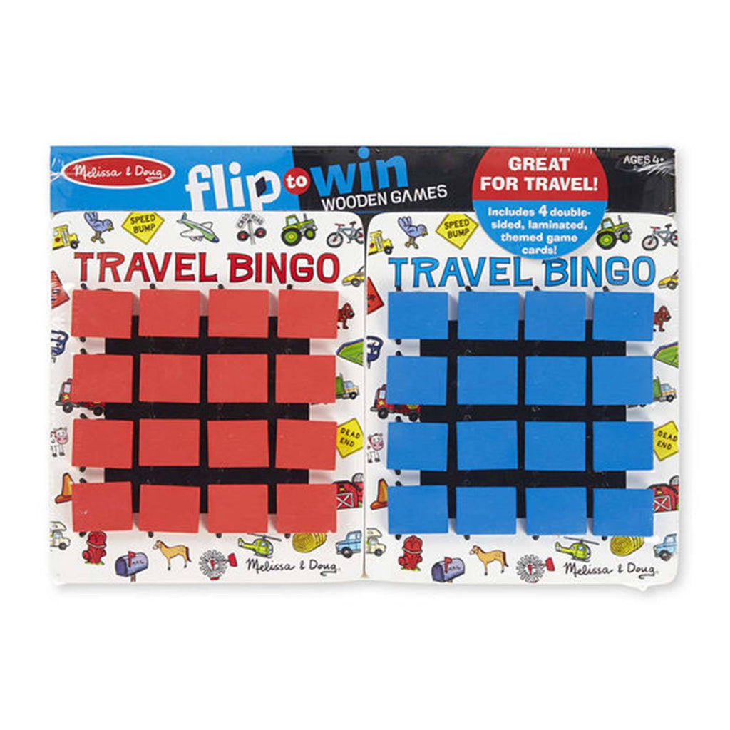 Board Games - Melissa And Doug Flip To Win Travel Bingo Wooden Game