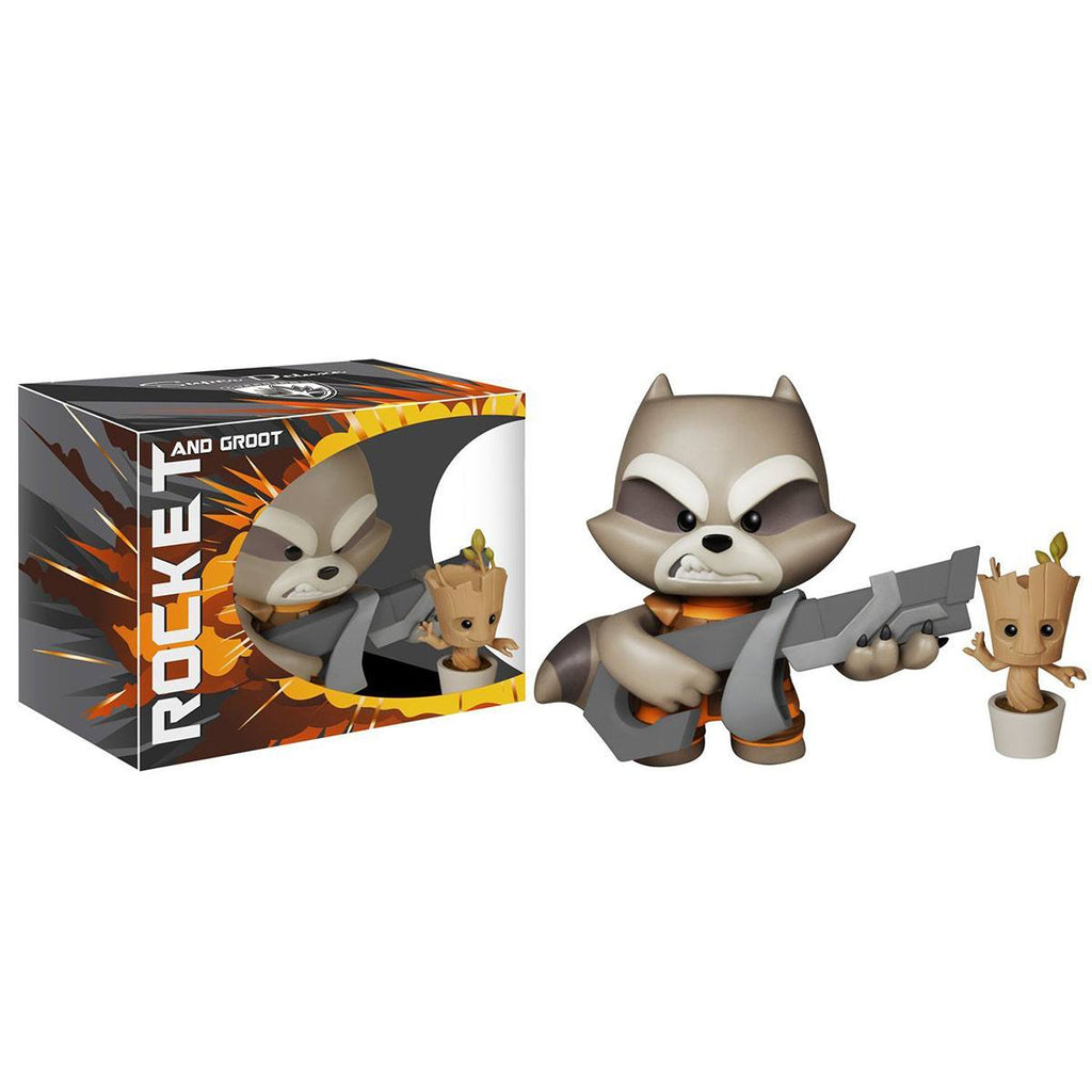 Guardians of the Galaxy Super Deluxe Rocket Raccoon And Groot Vinyl Figures