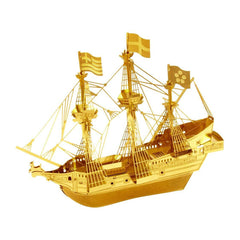 Building Kit - Metal Earth Golden Hind Ship Gold Model Kit