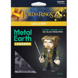 Building Kit - Metal Earth Legends Lord Of The Rings Aragorn Steel Model Kit