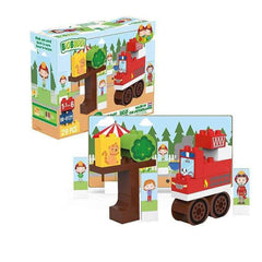 Building Set - Biobuddi Our World Fire Truck ECO Friendly Building Set 100659