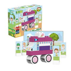 Building Set - Biobuddi Our World Ice Cream Truck ECO Friendly Building Set 100667