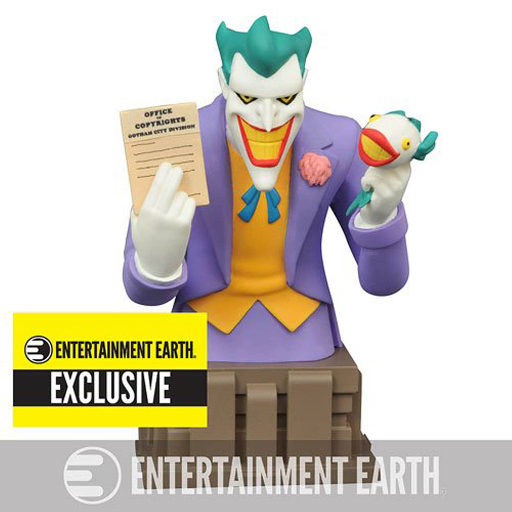 Batman Animated Exclusive The Joker Laughing Fish Bust Statue