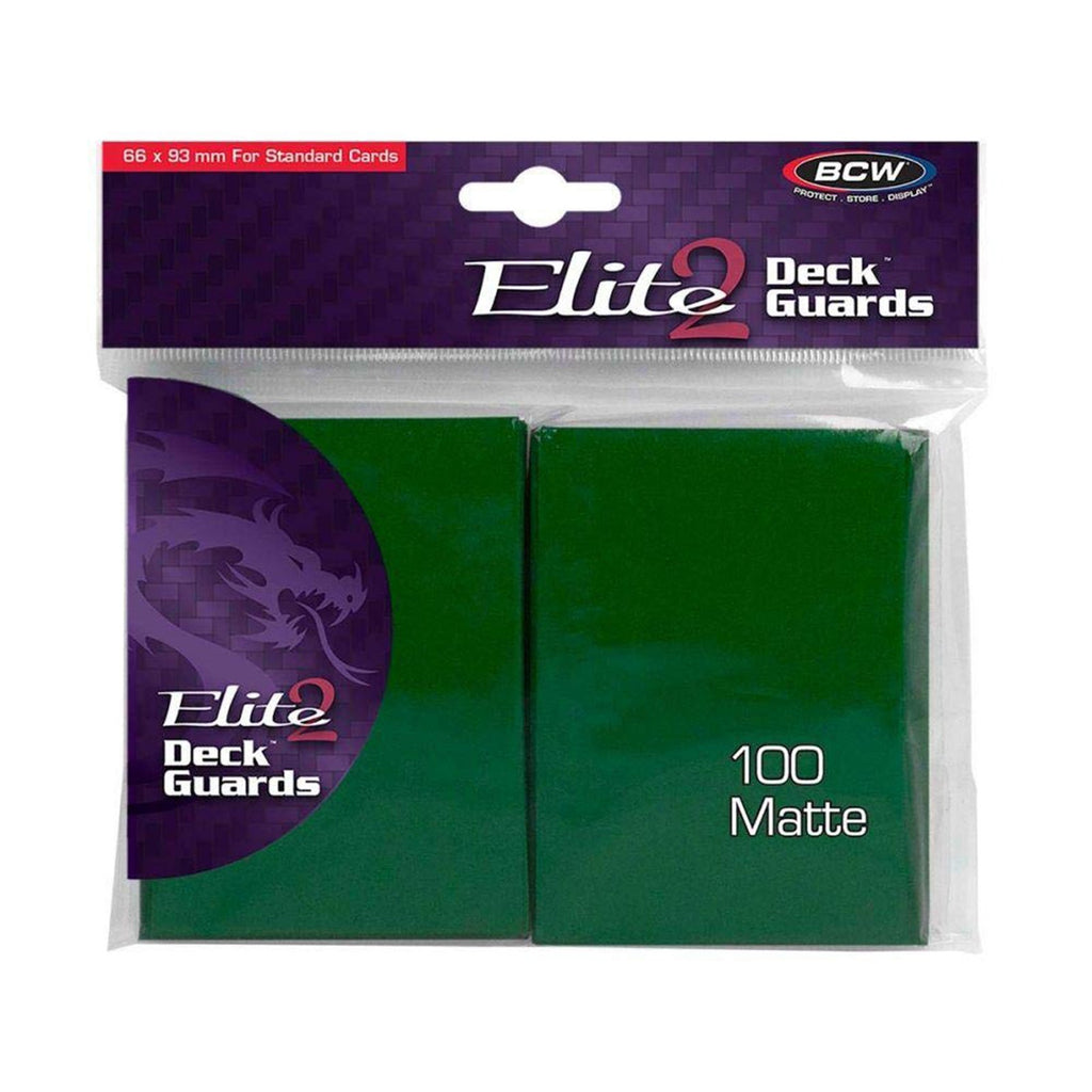 Card Games - BCW Elite 2 66 X 93 Mm Green Deck Guards Standard Cards