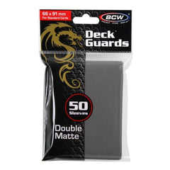 Card Games - BCW Gray Double Matte Deck Guards Standard Cards Sleeves 50 Count