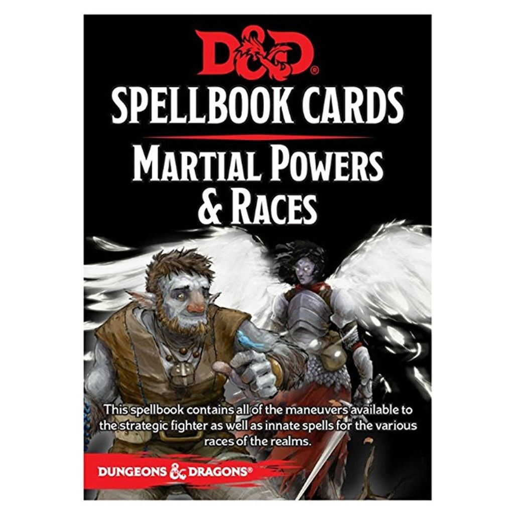 Dungeons And Dragons Martial Powers And Races Spell Cards Deck