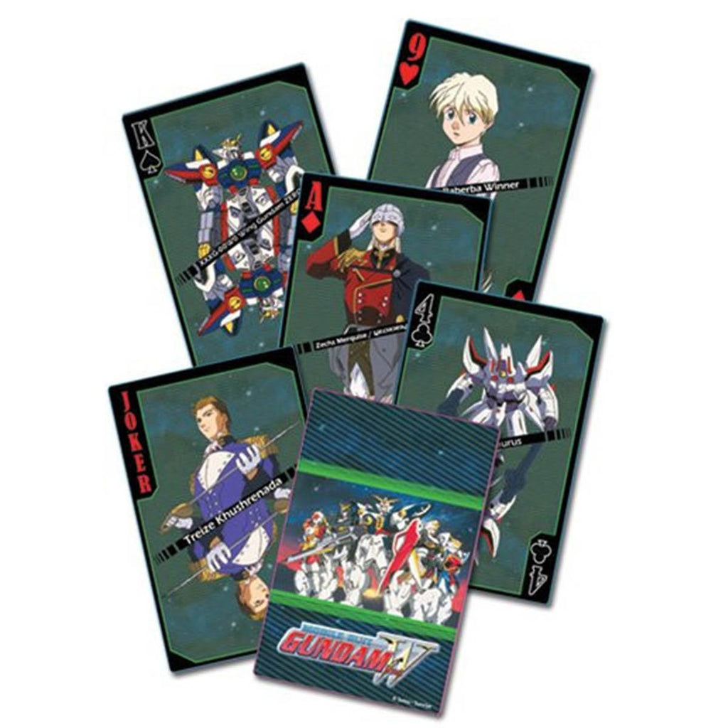 Gundam Wing Mobile Suit Playing Cards