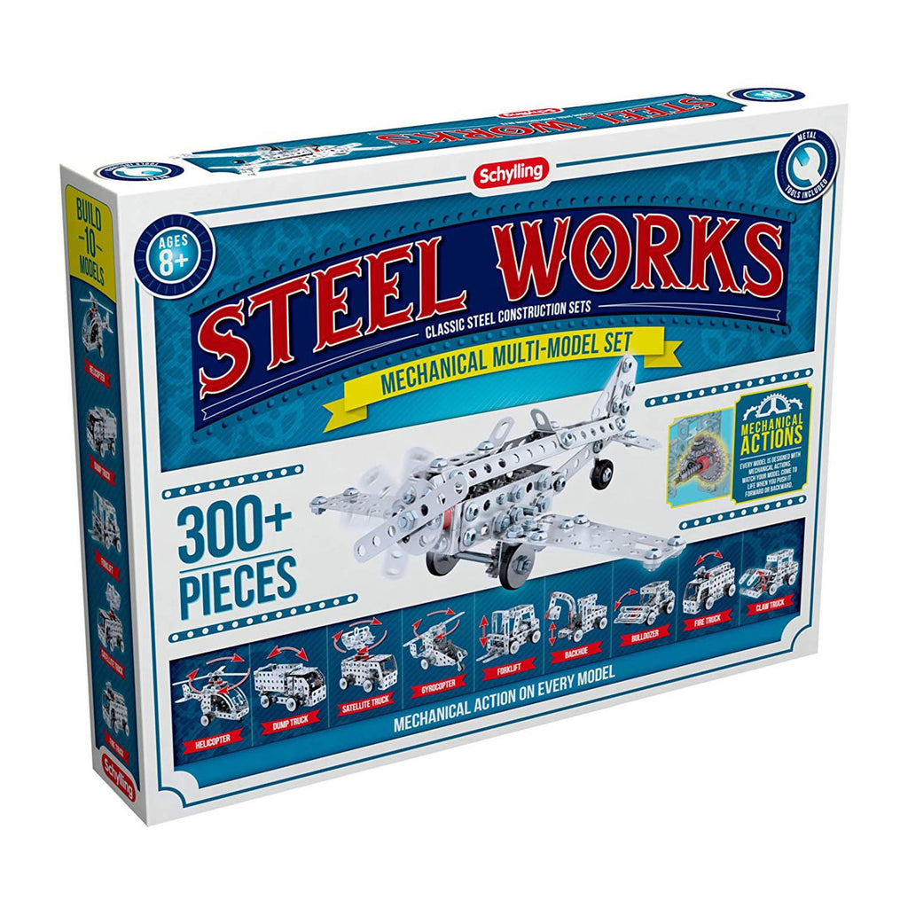 Schylling Steel Works Mechanical Mutil-Model Set