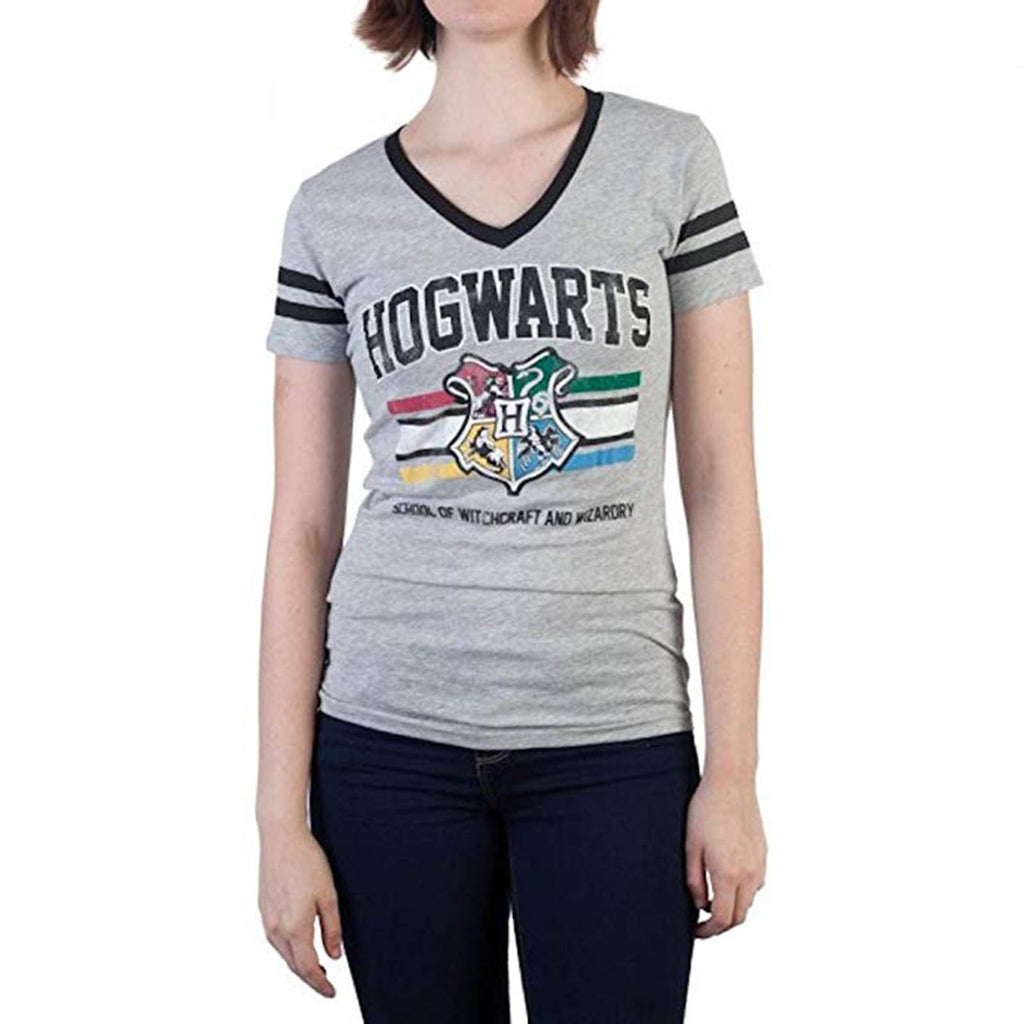 Clothing - Harry Potter Hogwarts V Neck Women's Tee Shirt