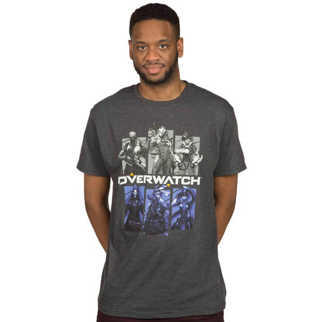 Overwatch Bring Your Friends Charcoal Premium Tee Shirt