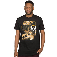 Overwatch Heroes And Assassins Black Premium Tee Shirt - Radar Toys