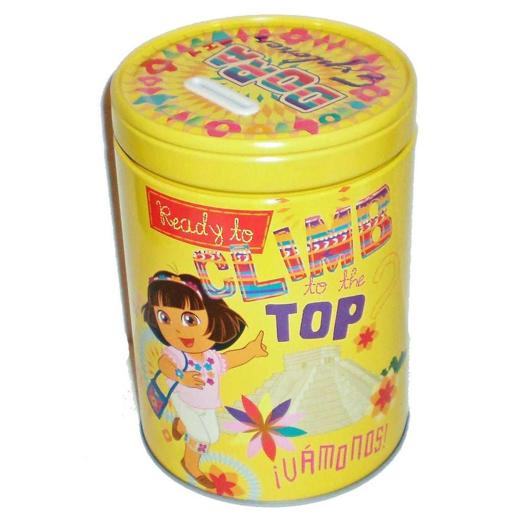 Dora the Explorer Ready To Climb Round Tin Piggy Bank