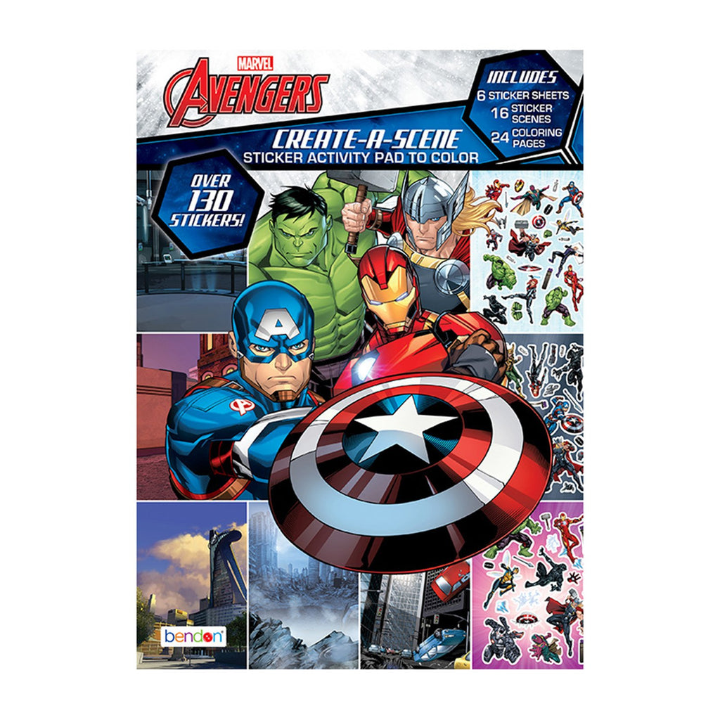 Bendon Marvel Avengers Create A Scene Sticker Activity Pad