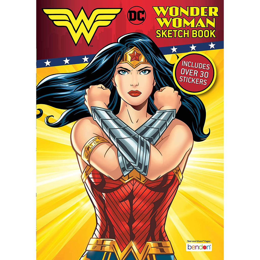 Bendon Wonder Woman Sketch Book With Stickers
