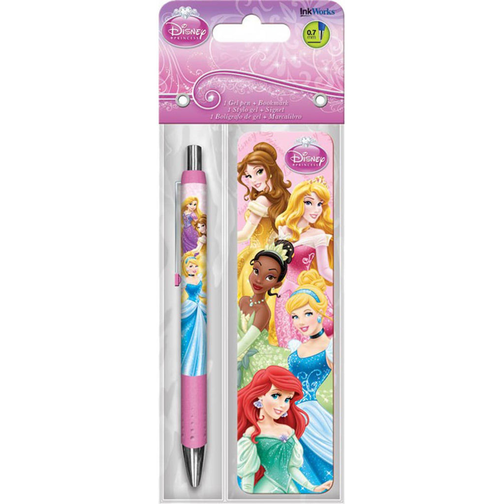 Disney Princess Gowns Bookmark And Pen Set