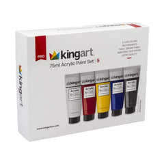 Crafts - Kingart Pro 5 Count 75ml Acrylic Paint Set 504-5