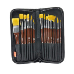 Crafts - Kingart Studio 18 Count Fine Brush Set With Case 206-18