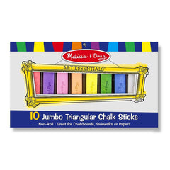 Crafts - Melissa And Doug 10 Jumbo Triangular Chalk Sticks