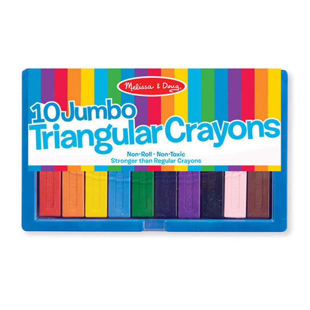 Melissa And Doug 10 Jumbo Triangular Crayons Set
