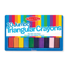 Crafts - Melissa And Doug 10 Jumbo Triangular Crayons Set