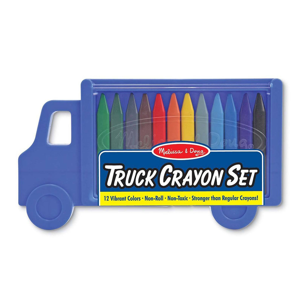 Melissa And Doug 12 Colors Truck Crayon Set