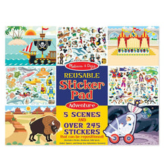 Crafts - Melissa And Doug Adventure Reusable Sticker Pad