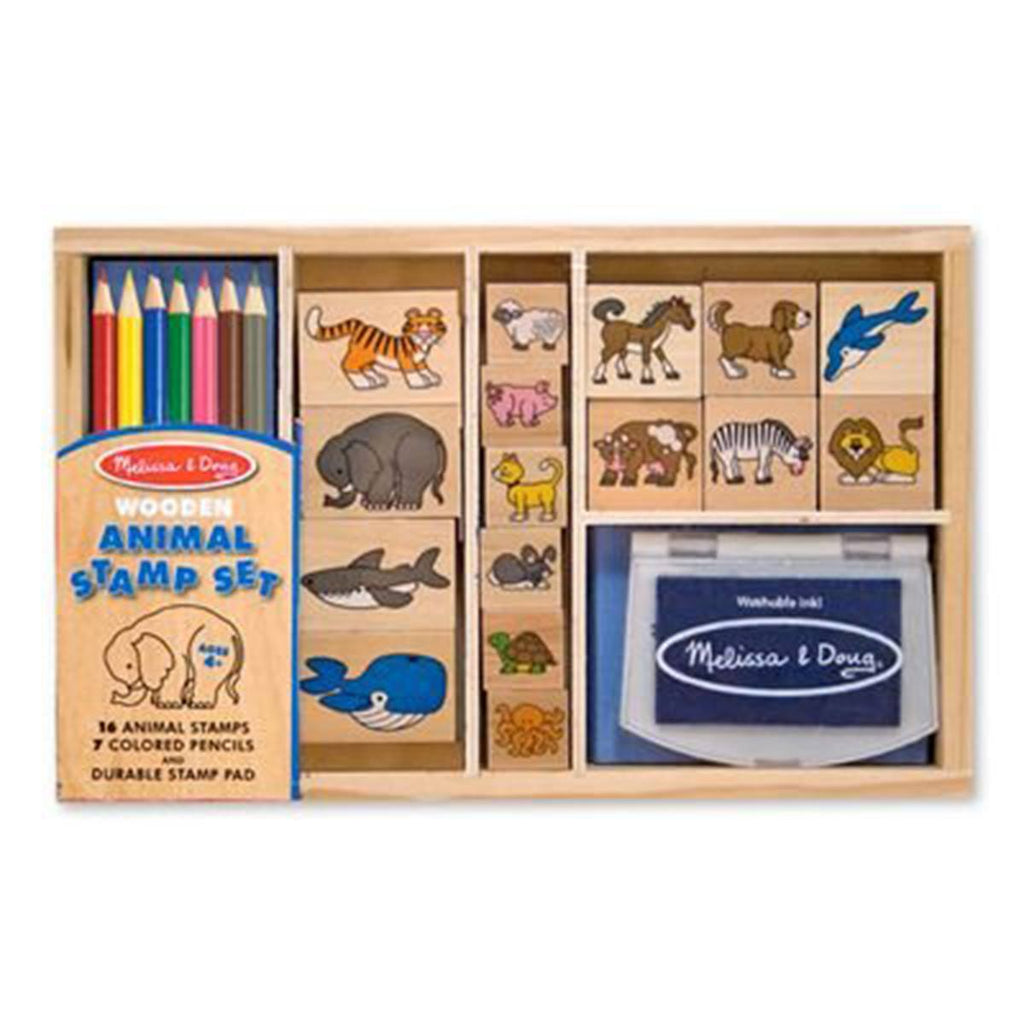 Melissa and Doug Animals Stamp Set - Radar Toys