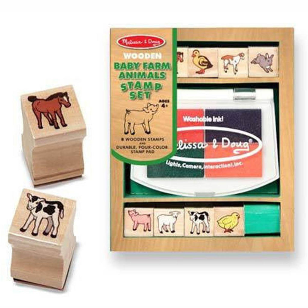 Melissa and Doug Baby Farm Animals Stamp Set - Radar Toys