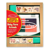 Crafts - Melissa And Doug Baby Farm Animals Wooden Stamp Set