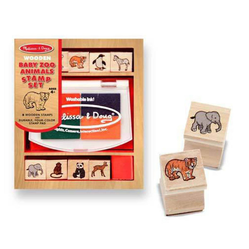 Melissa and Doug Baby Zoo Animals Stamp Set - Radar Toys