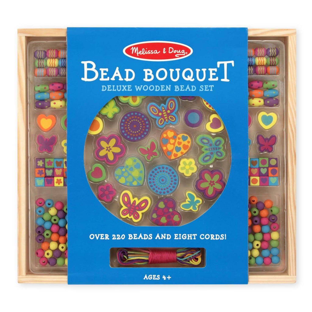 Crafts - Melissa And Doug Bead Bouquet Deluxe Wooden Set