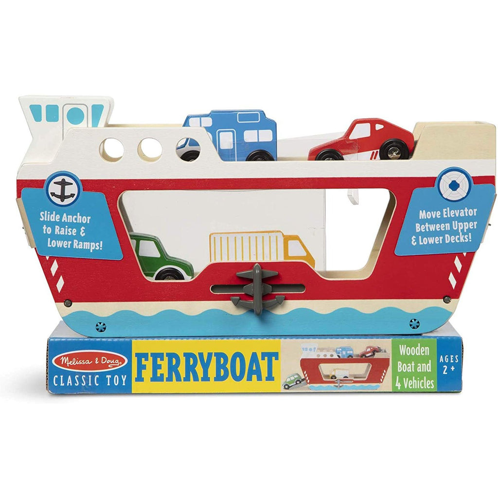 Melissa And Doug Classic Toy Wooden Ferryboat Set