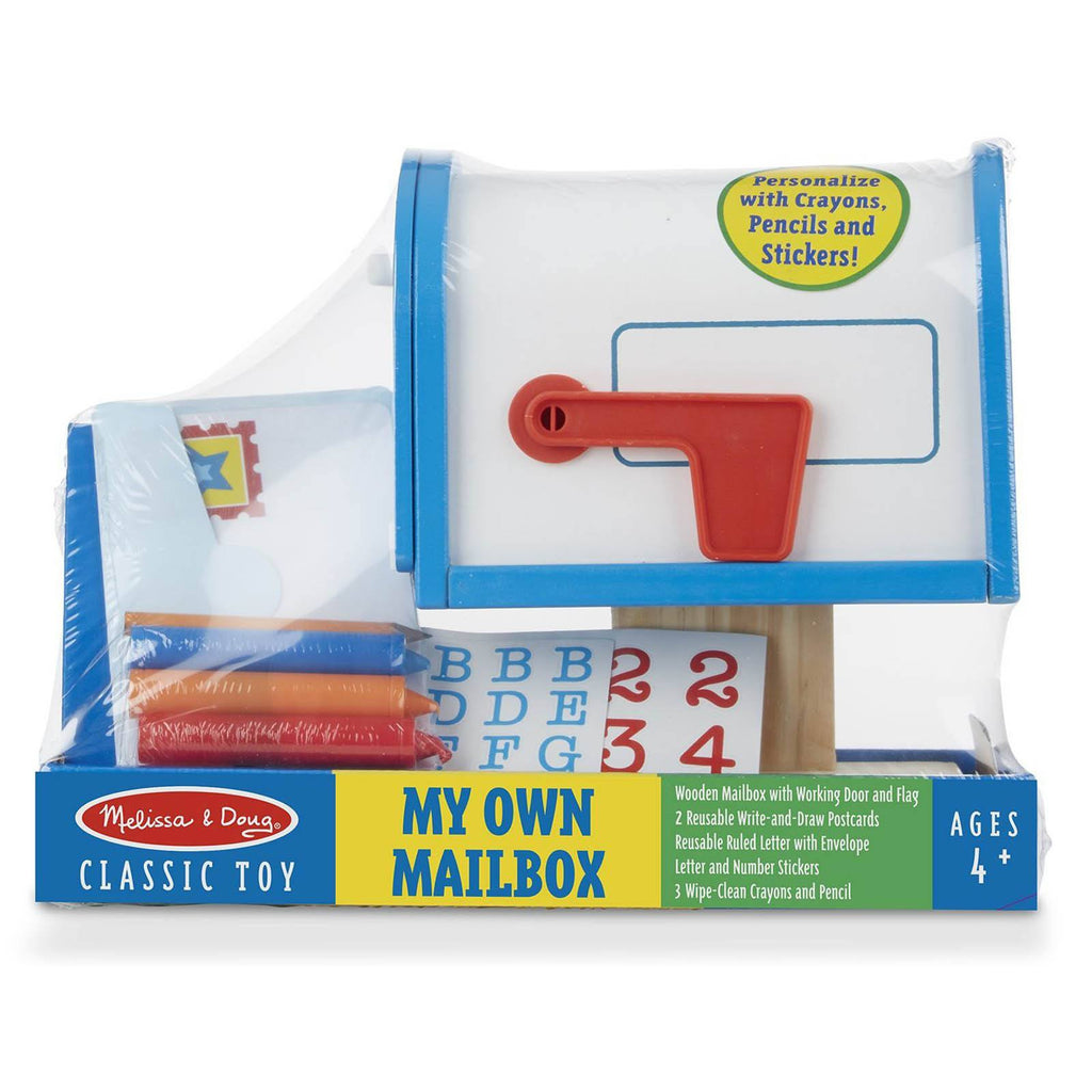 Melissa And Doug Classic Toy Wooden My Own Mailbox Play Set