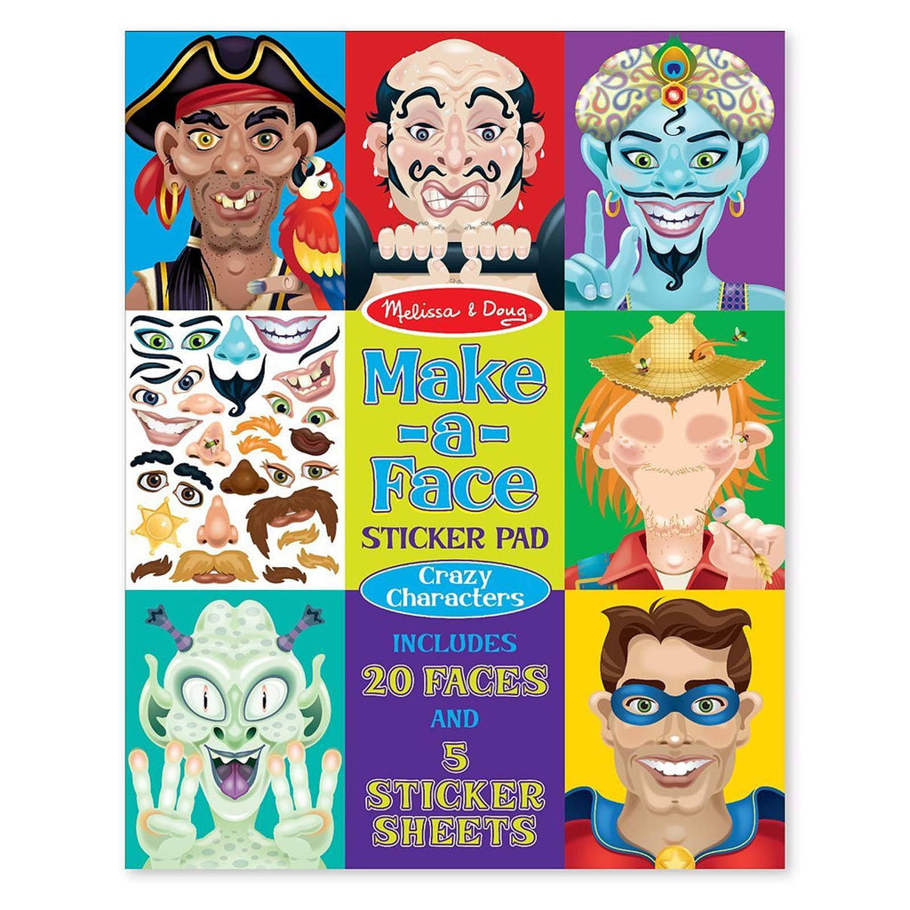 Melissa And Doug Crazy Characters Make A Face Sticker Pad