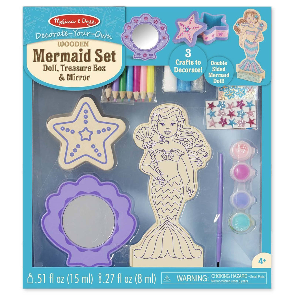 Crafts - Melissa And Doug Decorate Your Own Wooden Mermaid Set
