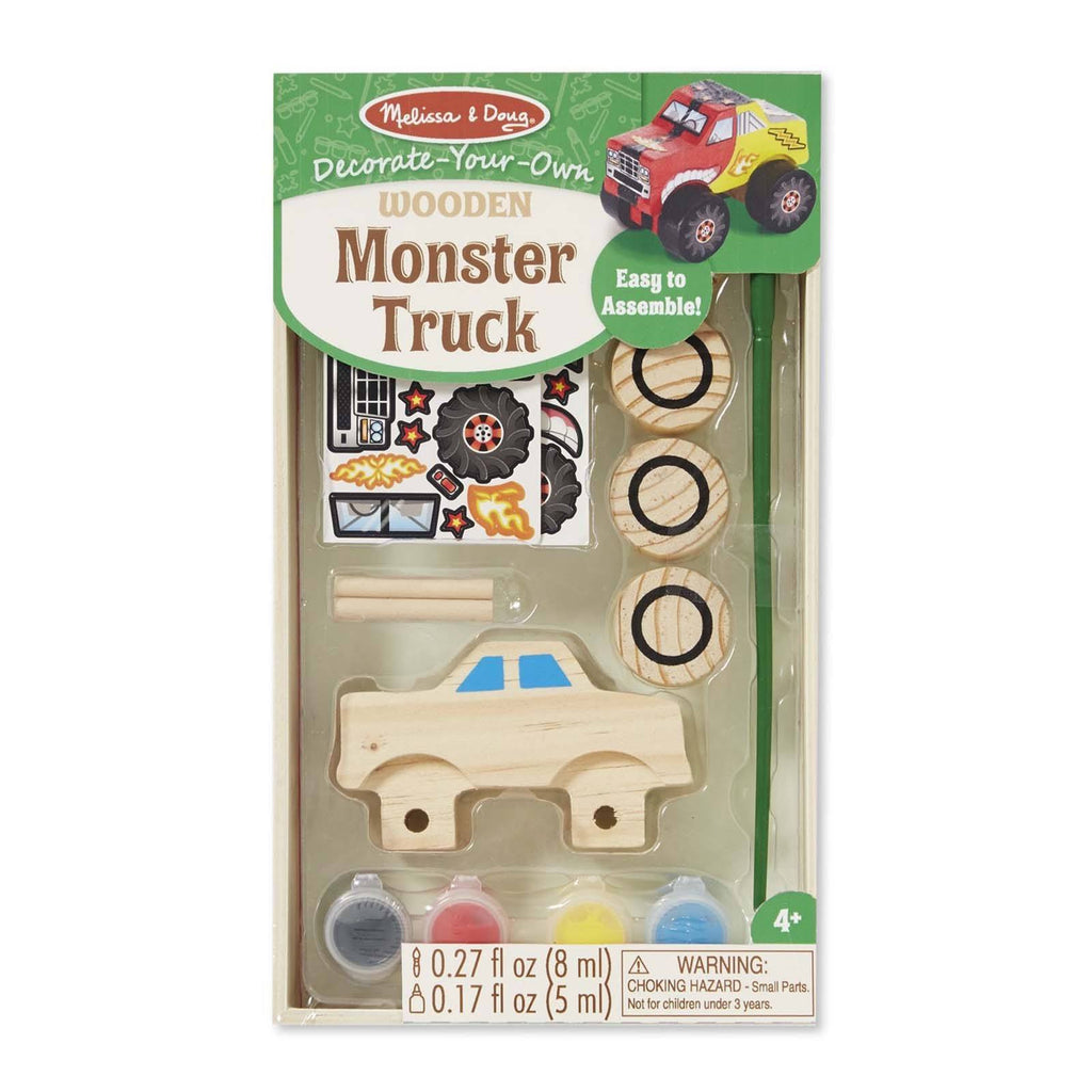Crafts - Melissa And Doug Decorate Your Own Wooden Monster Truck Set